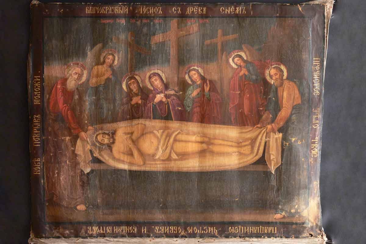 Картина-Положение-во-гроб-до-реставрации1