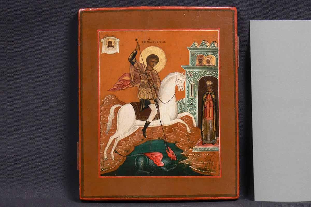 Реставрация-иконы-св.-Георгий-Победоносец-После