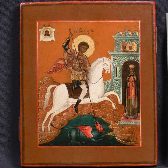 Реставрация-иконы-св.-Георгий-Победоносец.-После