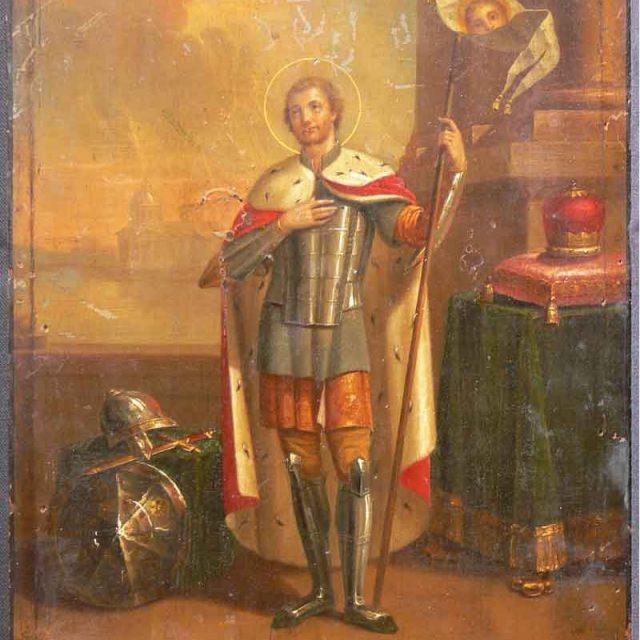 Реставрация-иконы-св.-князь-Александр-Невский-До