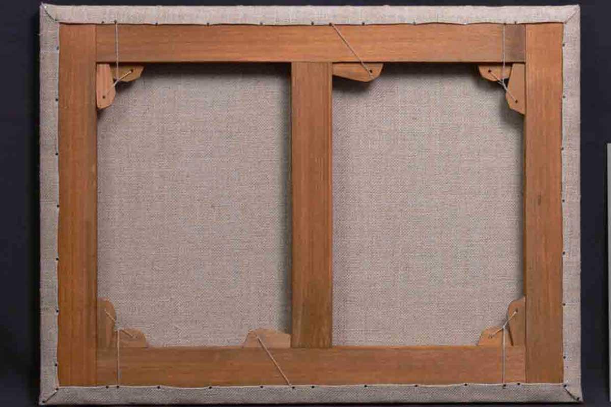 Реставрация подрамника картины «Калитка» После